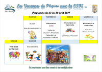 Week-end de Pâques : recommandations et programme des activités péri et extra scolaires