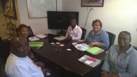 La présidente rencontre Guadeloupe Formation