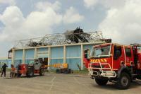 Incendie au gymnase de Galisbay