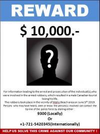 Décès par balle du touriste canadien  : la police lance un appel à témoins et propose une récompense